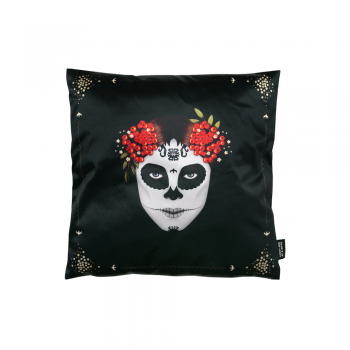 Dia de Muertos Decorative pillow Lucky Son of a Bitch.png