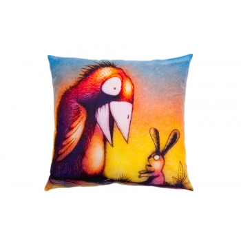 Decorative, accent & throw pillow: Crow, take my pain.jpg
