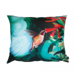 Decorative, accent & throw pillow Ruby-Throated Hummingbird w/ Trumpet Honeysuckle from Mike Morehouse Collection
