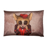 Decorative, accent & throw pillow:  Fear has big eyes